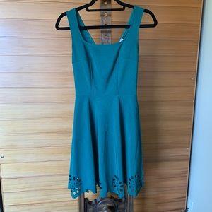 Green ModCloth cutout scallop dress